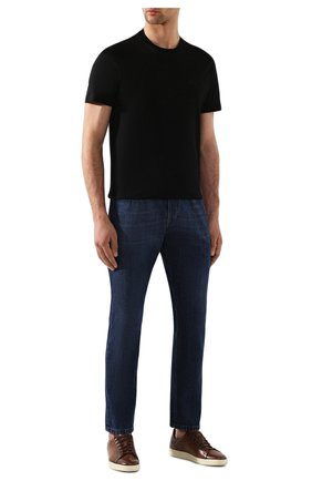 Мужская хлопковая футболка BRIONI черного цвета, арт. UJCA0L/PZ600 | Фото 2