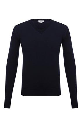 Мужской шерстяной пуловер BRIONI темно-синего цвета, арт. UMQ70L/0ZK18 | Фото 1