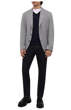 Мужской шерстяной пуловер BRIONI темно-синего цвета, арт. UMQ70L/0ZK18 | Фото 2