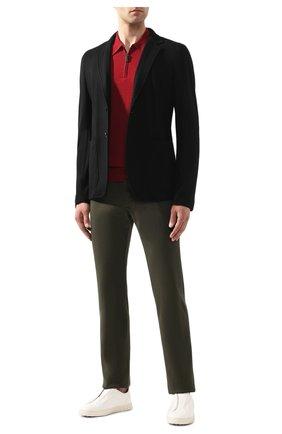 Мужское шерстяное поло BRIONI бордового цвета, арт. UMS10L/0ZK18 | Фото 2