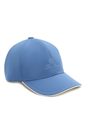 Детская бейсболка LORO PIANA голубого цвета, арт. FAE8580 | Фото 1