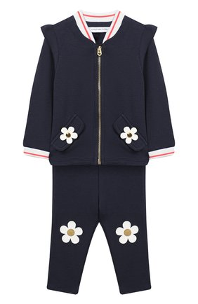Детский комплект из кардигана и брюк MARC JACOBS (THE) темно-синего цвета, арт. W08063/6M-18M | Фото 1