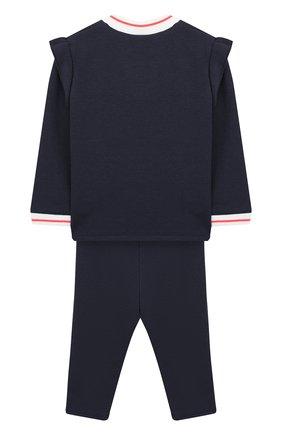 Детский комплект из кардигана и брюк MARC JACOBS (THE) темно-синего цвета, арт. W08063/6M-18M | Фото 2