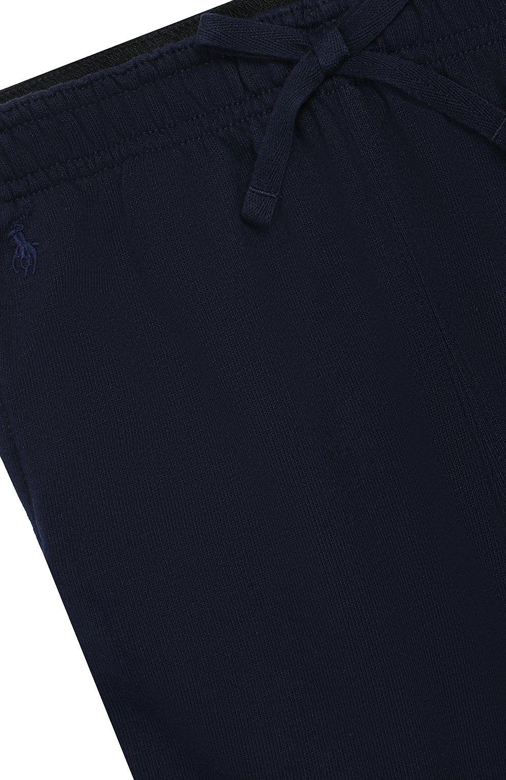 Хлопковые джоггеры Polo Ralph Lauren синего цвета   Фото №3