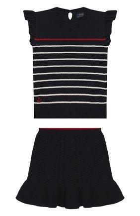 Детский комплект из юбки и топа POLO RALPH LAUREN синего цвета, арт. 313736827 | Фото 1