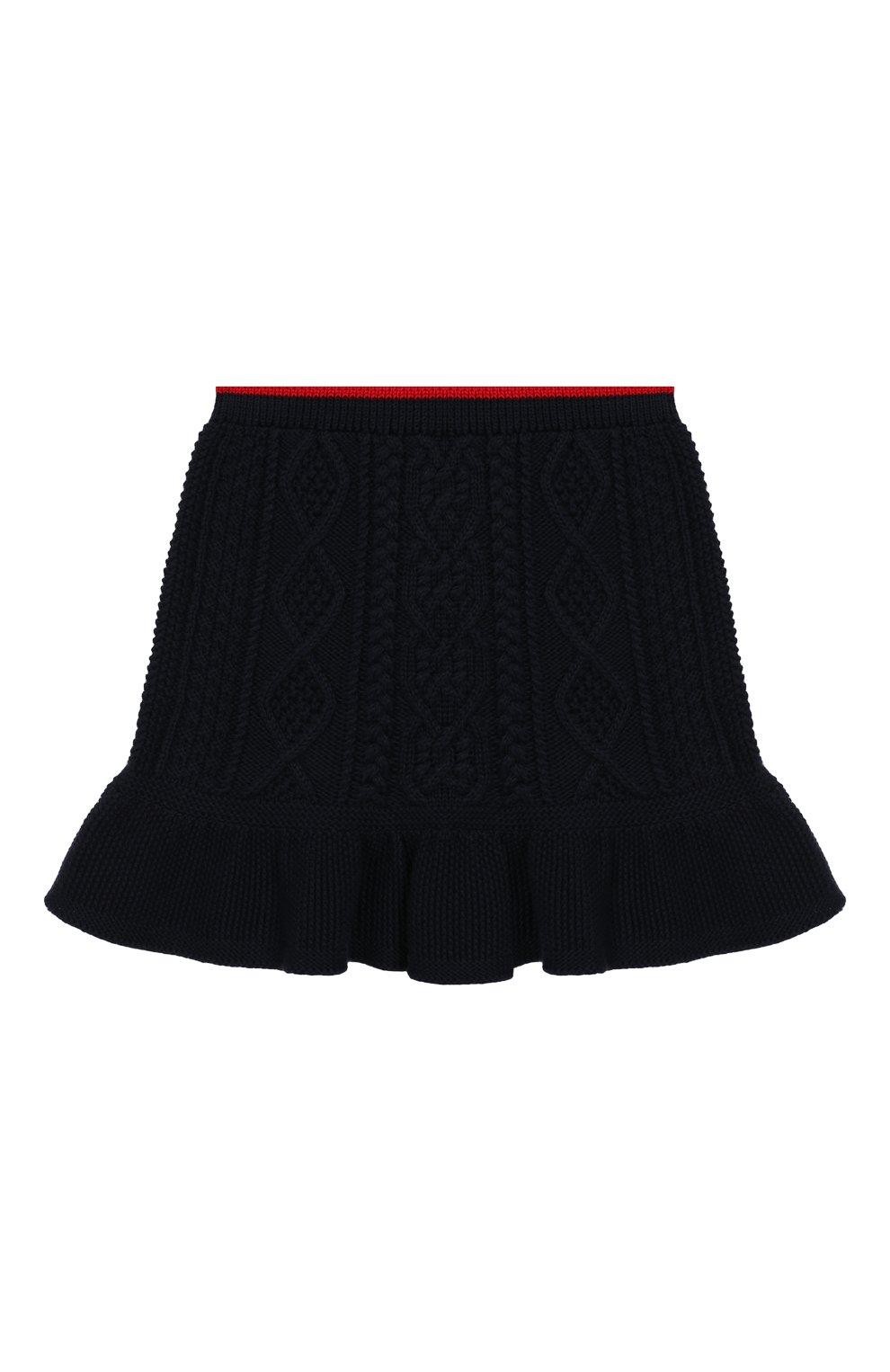 Детская комплект из юбки и топа Polo Ralph Lauren синего цвета | Фото №4