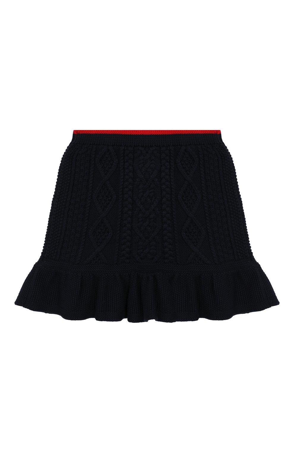 Детская комплект из юбки и топа Polo Ralph Lauren синего цвета | Фото №5