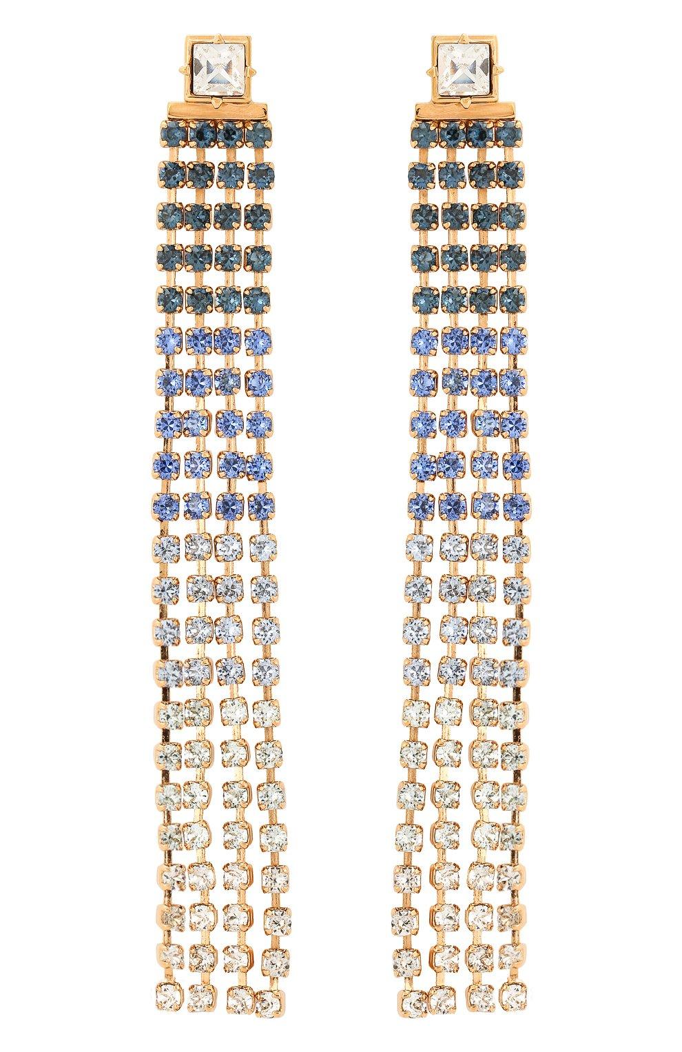 Женские серьги monaco JACQUEMUS голубого цвета, арт. 191JW01 | Фото 1