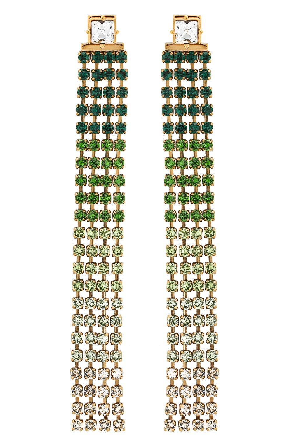 Женские серьги monaco JACQUEMUS зеленого цвета, арт. 191JW01 | Фото 1
