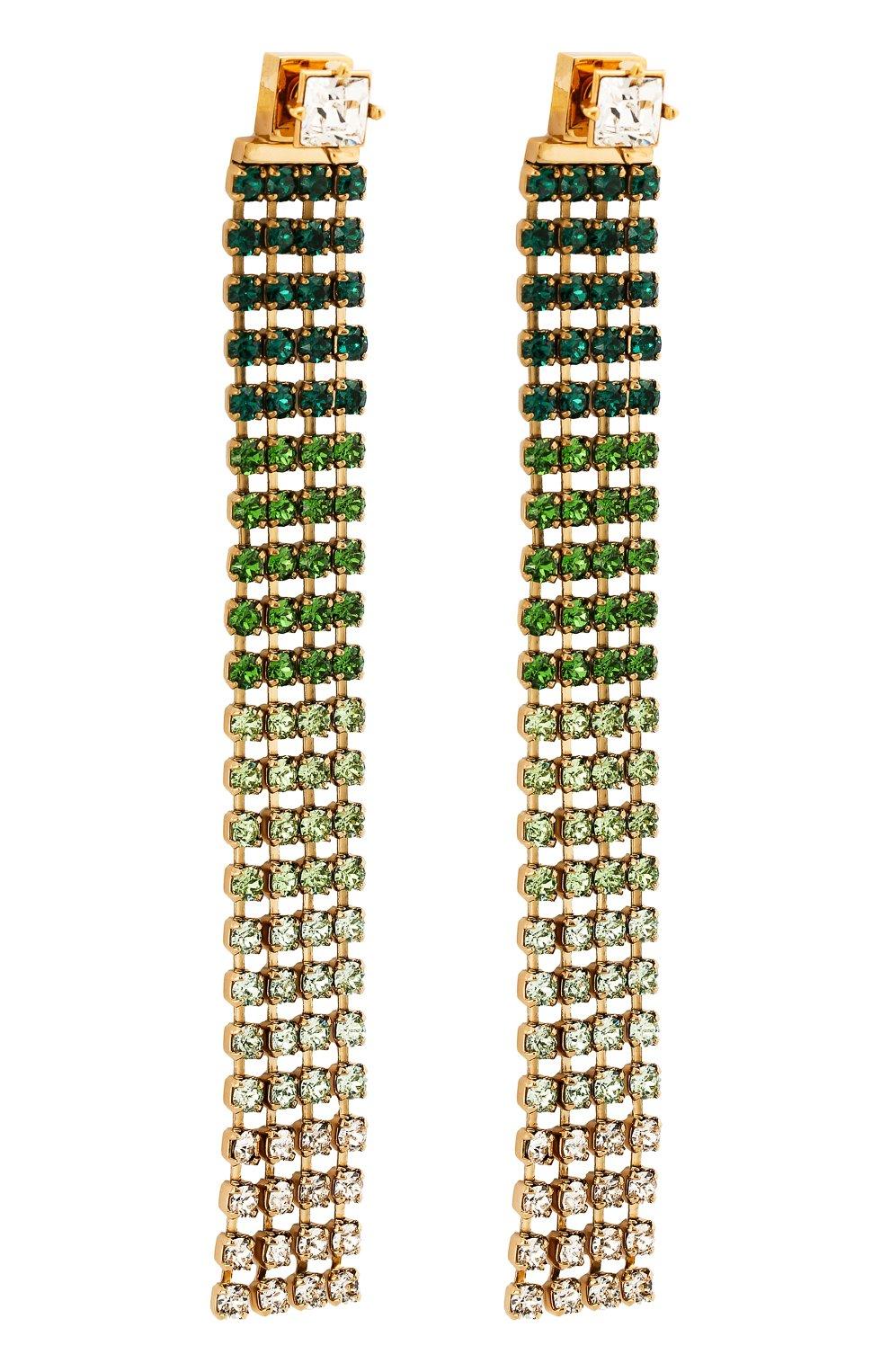 Женские серьги monaco JACQUEMUS зеленого цвета, арт. 191JW01 | Фото 3