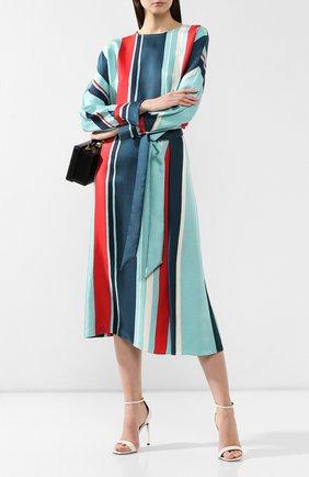 Женская шелковая юбка LORO PIANA бирюзового цвета, арт. FAI5416   Фото 2