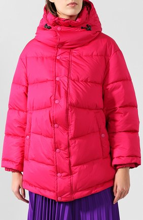 Женский стеганая куртка BALENCIAGA розового цвета, арт. 555346/TYD33   Фото 3 (Кросс-КТ: Куртка, Пуховик; Рукава от горловины: Длинные; Рукава: Длинные; Женское Кросс-КТ: Пуховик-куртка; Длина (верхняя одежда): До середины бедра, Короткие; Материал внешний: Синтетический материал, Полиэстер; Материал подклада: Синтетический материал; Статус проверки: Проверено, Проверена категория)