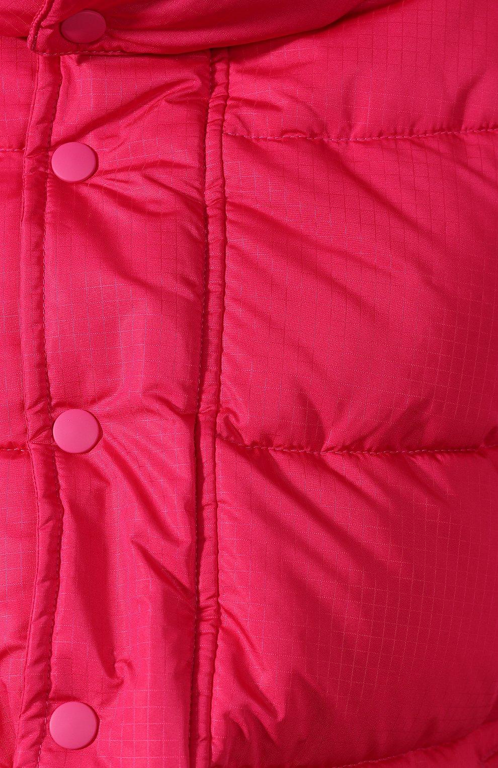 Женский стеганая куртка BALENCIAGA розового цвета, арт. 555346/TYD33   Фото 5 (Кросс-КТ: Куртка, Пуховик; Рукава от горловины: Длинные; Рукава: Длинные; Женское Кросс-КТ: Пуховик-куртка; Длина (верхняя одежда): До середины бедра, Короткие; Материал внешний: Синтетический материал, Полиэстер; Материал подклада: Синтетический материал; Статус проверки: Проверено, Проверена категория)