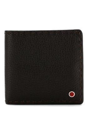 Мужской кожаный футляр для кредитных карт KITON светло-коричневого цвета, арт. UPVENEN00739 | Фото 1