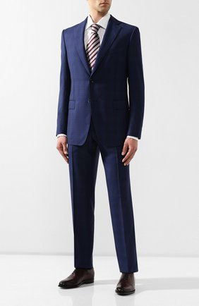 Мужской шерстяной костюм ZILLI темно-синего цвета, арт. MMR-AN22Z2-56118/0001 | Фото 1