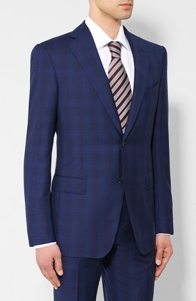 Мужской шерстяной костюм ZILLI темно-синего цвета, арт. MMR-AN22Z2-56118/0001   Фото 2