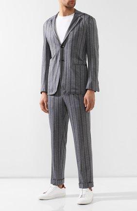 Мужской костюм из смеси хлопка и кашемира KNT серого цвета, арт. UAS0101K06R53 | Фото 1