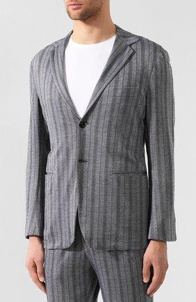 Мужской костюм из смеси хлопка и кашемира KNT серого цвета, арт. UAS0101K06R53 | Фото 2