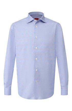 Хлопковая сорочка Isaia голубая | Фото №1