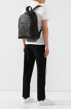 Мужской кожаный рюкзак valentino garavani vlogo VALENTINO черного цвета, арт. SY2B0787/CJE | Фото 2