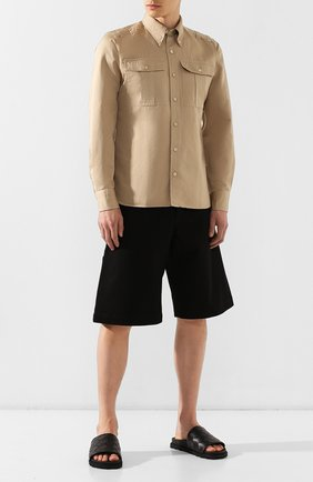 Мужские кожаные шлепанцы BOTTEGA VENETA черного цвета, арт. 578264/VT030 | Фото 2