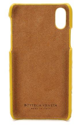 Мужской кожаный чехол для iphone x BOTTEGA VENETA желтого цвета, арт. 580150/V00BL | Фото 2