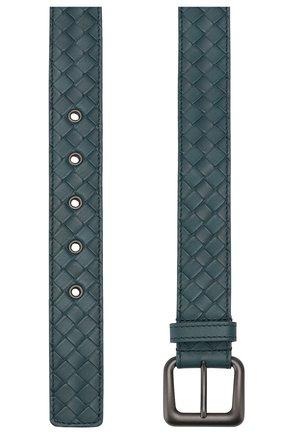 Мужской кожаный ремень BOTTEGA VENETA синего цвета, арт. 271932/V4650 | Фото 2