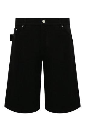 Мужские хлопковые шорты BOTTEGA VENETA черного цвета, арт. 572996/VF4T0 | Фото 1