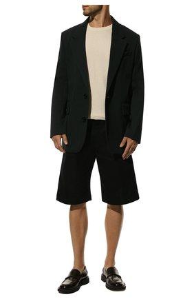 Мужские хлопковые шорты BOTTEGA VENETA черного цвета, арт. 572996/VF4T0 | Фото 2