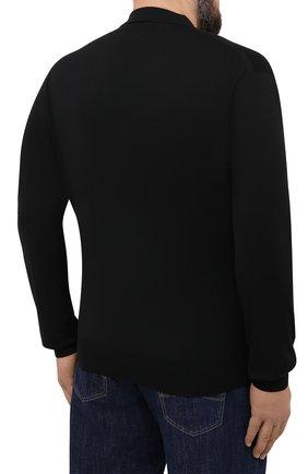 Мужское шерстяное поло BRIONI черного цвета, арт. UMS10L/0ZK18 | Фото 4