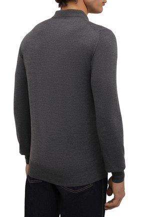 Мужское шерстяное поло BRIONI темно-серого цвета, арт. UMS10L/0ZK18 | Фото 4
