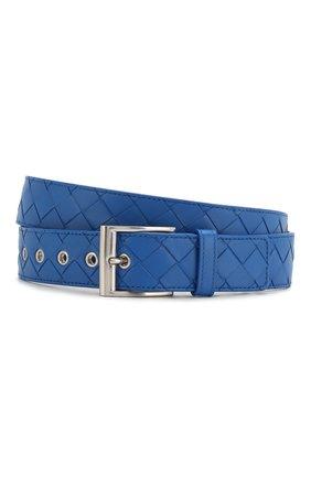 Мужской кожаный ремень BOTTEGA VENETA синего цвета, арт. 580673/V00BG | Фото 1