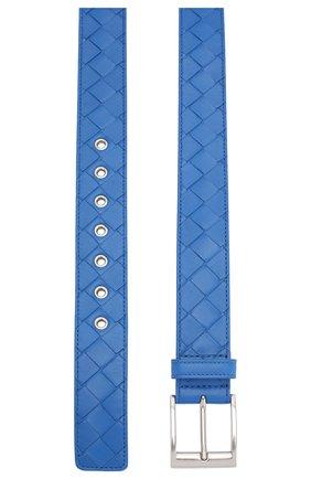 Мужской кожаный ремень BOTTEGA VENETA синего цвета, арт. 580673/V00BG | Фото 2