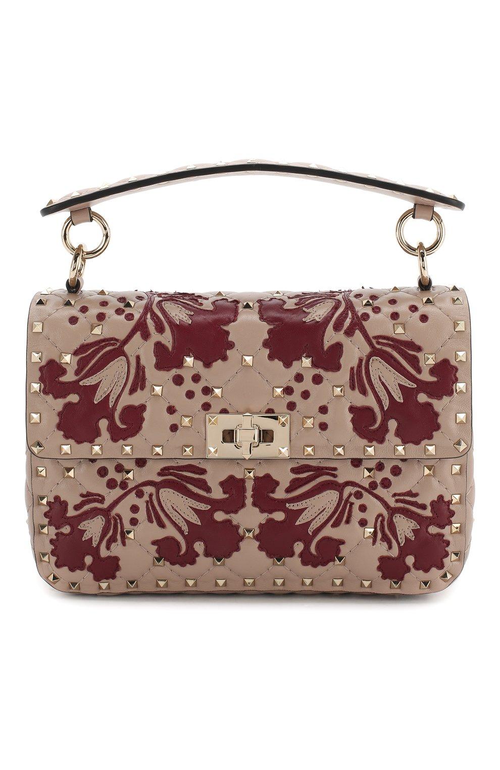 6cb9e15ac3f4 Женская сумка valentino garavani spike.it VALENTINO бежевая цвета ...