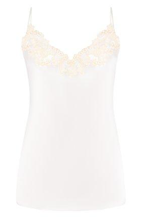 Женская шелковый топ LA PERLA белого цвета, арт. 0019225 | Фото 1