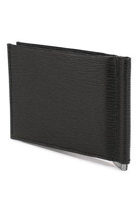 Мужской кожаный зажим для денег SALVATORE FERRAGAMO черного цвета, арт. Z-0379678 | Фото 2