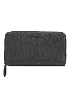 Мужской кожаный портмоне SALVATORE FERRAGAMO черного цвета, арт. Z-0677208 | Фото 1