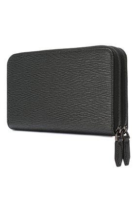 Мужской кожаный портмоне SALVATORE FERRAGAMO черного цвета, арт. Z-0677208 | Фото 2