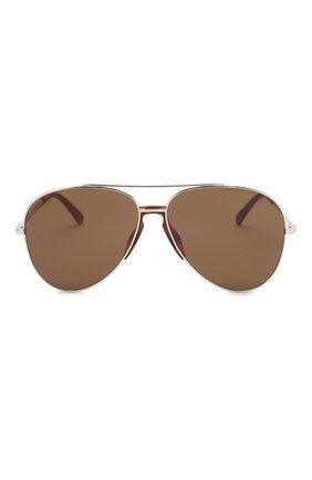 Мужские солнцезащитные очки BRIONI коричневого цвета, арт. 0DA500/P3ZAB   Фото 2