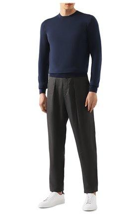 Мужской шерстяной джемпер GIORGIO ARMANI синего цвета, арт. 8NSM01/SM01Z | Фото 2