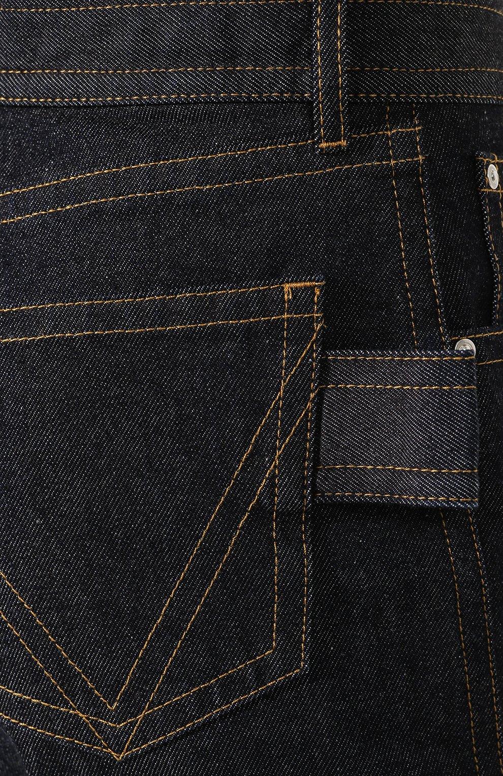 Мужские джинсы BOTTEGA VENETA темно-синего цвета, арт. 566888/VKBC0 | Фото 5 (Силуэт М (брюки): Прямые; Длина (брюки, джинсы): Стандартные; Материал внешний: Хлопок, Деним)