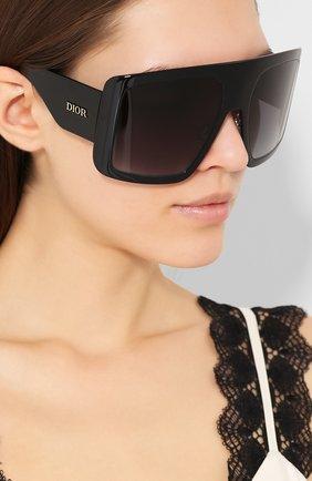 Женские солнцезащитные очки DIOR черного цвета, арт. DI0RS0LIGHT1 807 | Фото 2