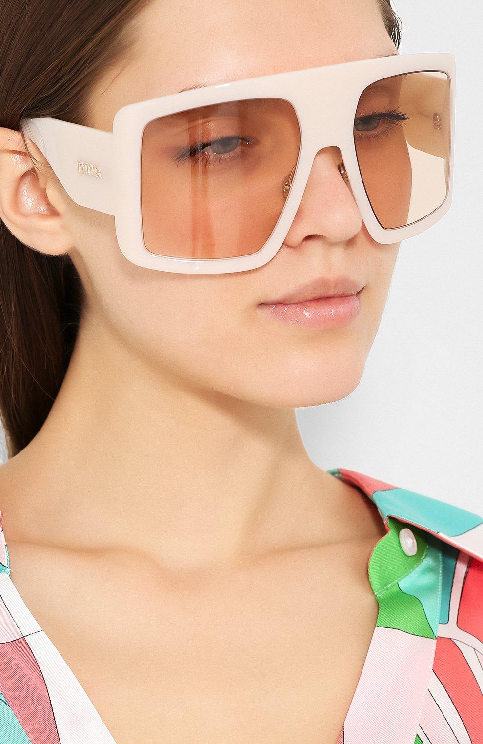 Солнцезащитные очки Dior бежевые | Фото №2
