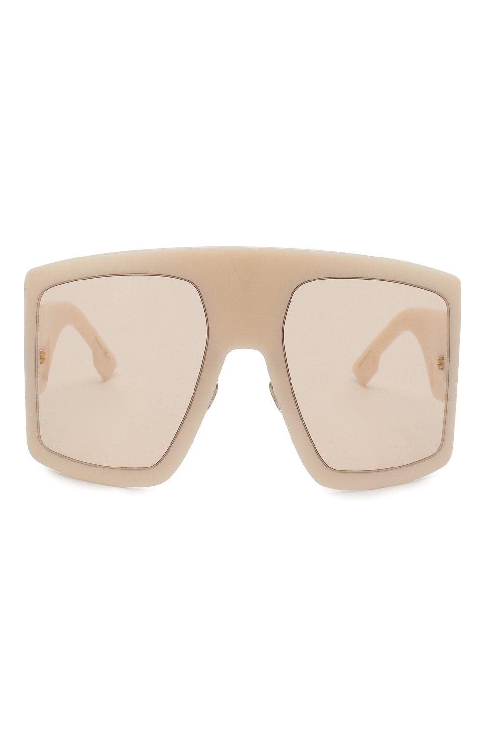 Солнцезащитные очки Dior бежевые | Фото №3