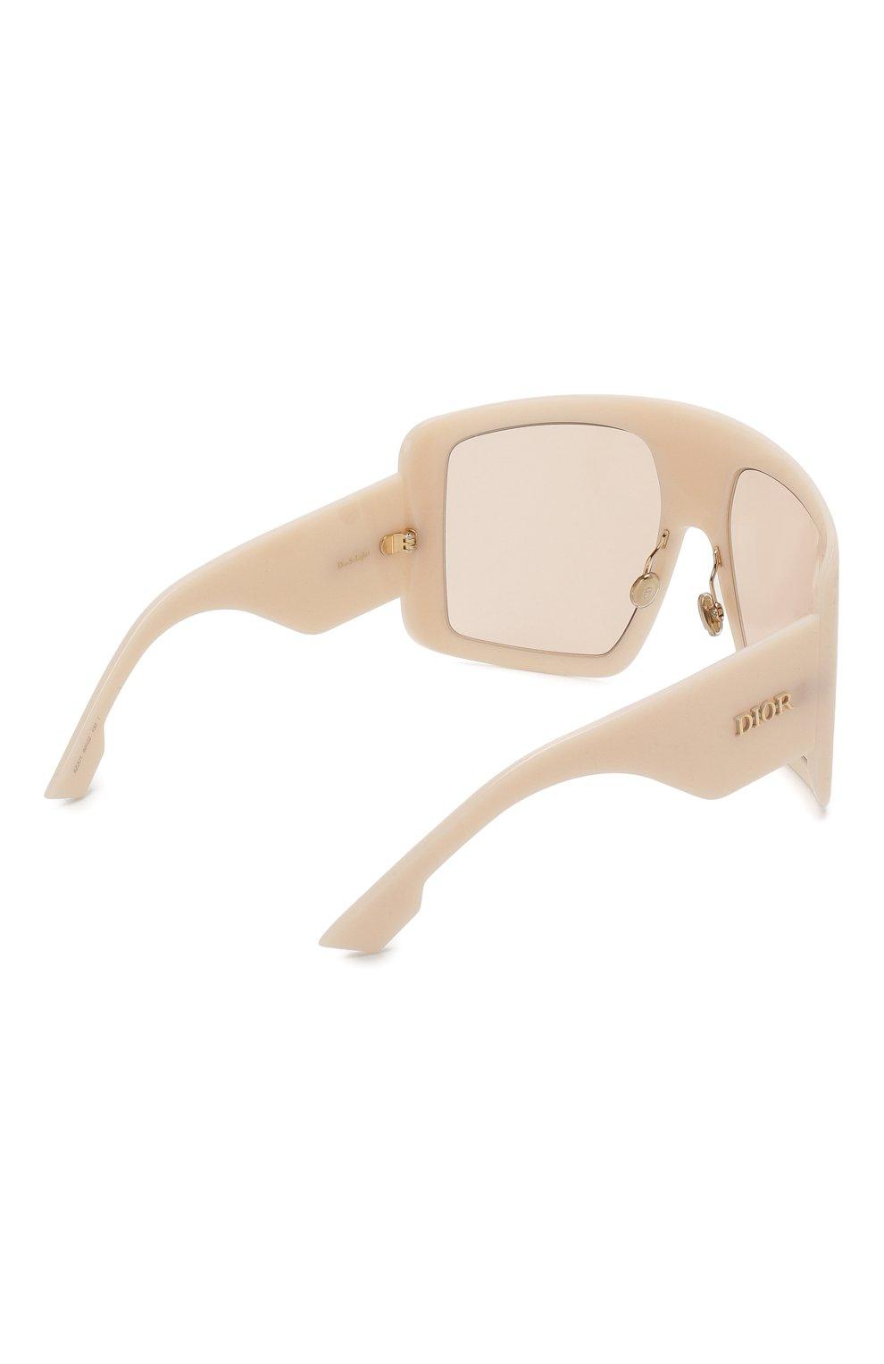 Солнцезащитные очки Dior бежевые | Фото №4