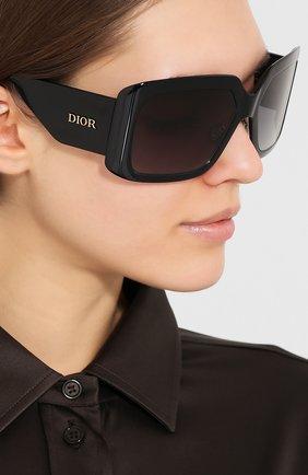 Женские солнцезащитные очки DIOR черного цвета, арт. DI0RS0LIGHT2 807 | Фото 2