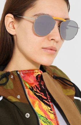 Мужские солнцезащитные очки fendi x gentle monster FENDI серебряного цвета, арт. 0368 010 | Фото 2