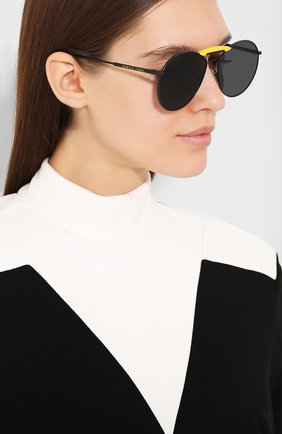 Солнцезащитные очки Fendi x Gentle Monster Fendi черные | Фото №2