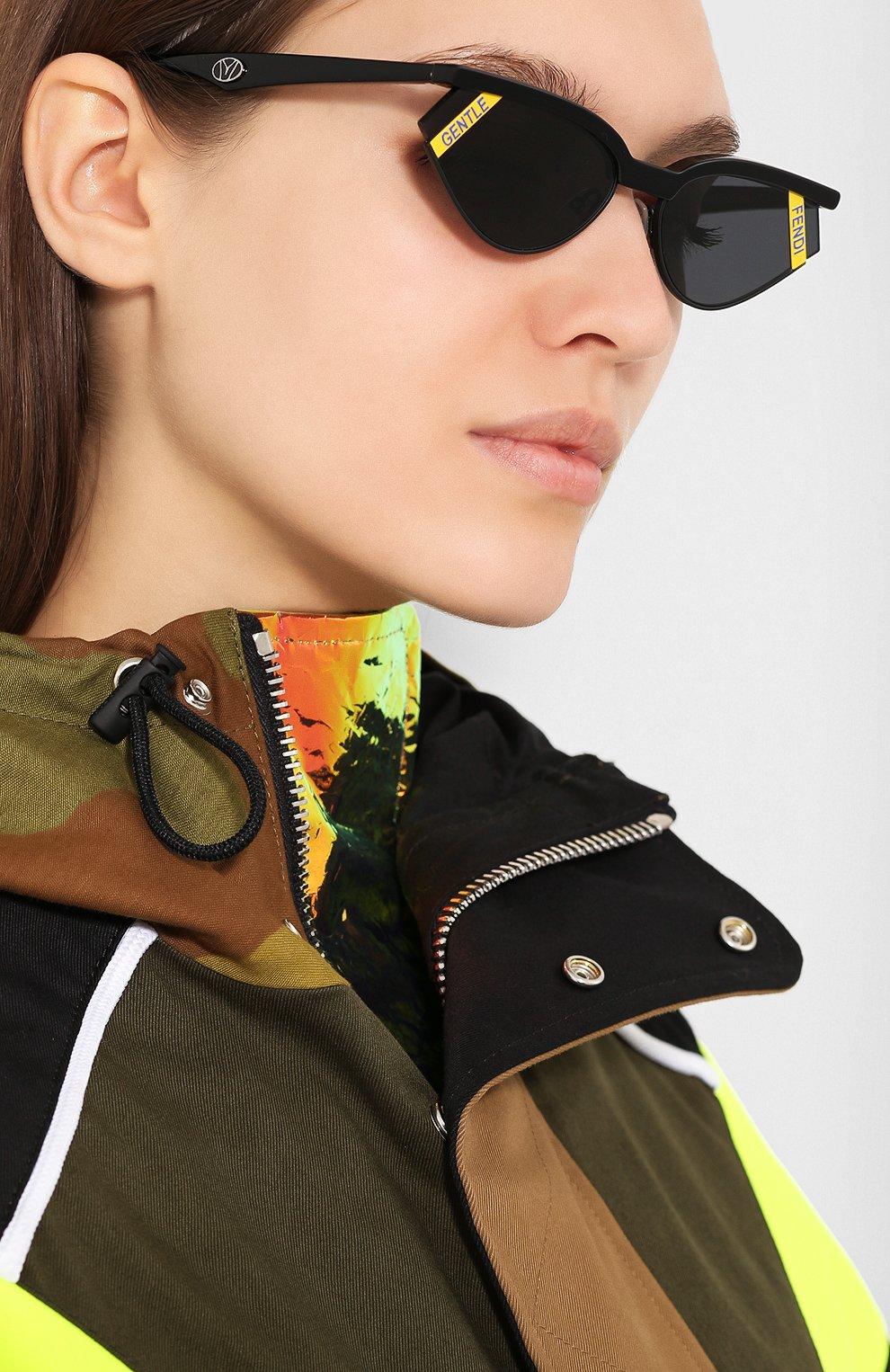 Солнцезащитные очки Fendi x Gentle Monster Fendi черные   Фото №2