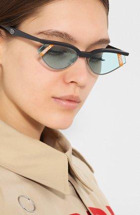 Мужские солнцезащитные очки fendi x gentle monster FENDI голубого цвета, арт. 0369 KB7 | Фото 2